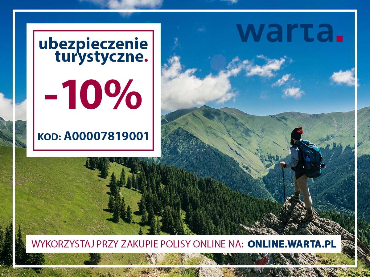 -10% na ubezpieczenie turystyczne Warta Travel